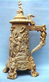 "Hand-carved ivory stein Ca. 1900.  www.LiquorList.com  ""The Marketplace for Adults with Taste"" @LiquorListcom   #LiquorList"
