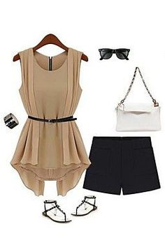 Love the blouse!  Shorts are a bit short for my taste but what a classy summer get-up!
