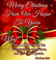merry christmas from our house to yours the blessing of aaron the brother of