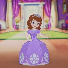 Would your little one like to play with Sofia? Here's a Sofia the First 3D paper craft you can make yourself.
