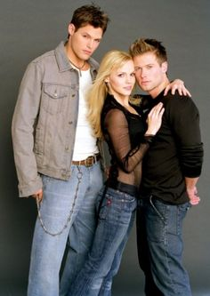 All My Children stepbrothers Jamie Martin and JR Chandler (Justin Bruening and Jacob Young) were both in love with Babe Carey (Alexa Havins), who loved them both