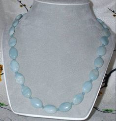 SEAFOAM Green AMAZONITE  Necklace with by pearlsbaublesnbeads, $18.00
