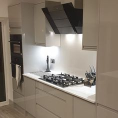 """Eminent Kitchens on Instagram: """"Annother stunning kitchen installation in a new extension project. Marmo Blanco solid surface worktop supplied by @sheridanworktop Gloss…"""" Kitchen Installation, Solid Surface, Work Tops, Apollo, Extensions, Kitchens, Kitchen Cabinets, Tech, Flat"""