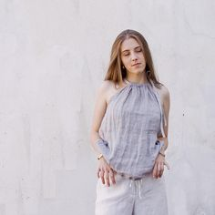 Fog Linen, Linen Bag, Sewing Summer Dresses, Linen Blouse, Sewing Patterns Free, Natural Linen, Crafty, Trending Outfits, My Style