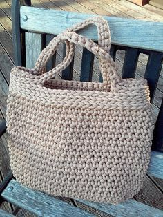 Knitted Bag/ Rope Bag/ Handmade Bag/ Crochet by NataNatastudio