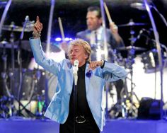 "Rod Stewart opened his set with the song ""Infatuation"" during a double bill performance featuring Carlos Santana on Tuesday, May 27, 2014, at Consol Energy Center.  (Jack Fordyce  