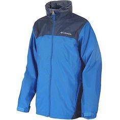 COLUMBIA GLENNAKER LAKE RAIN JACKET MENS RM2015-431 Hyper Blue OmniShield Size S