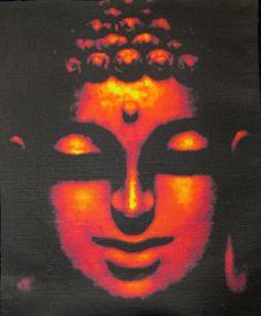 Printed Patch - Large Back BUDDHA FACE - Vest, Bag, Backpack, Jacket -Sew On