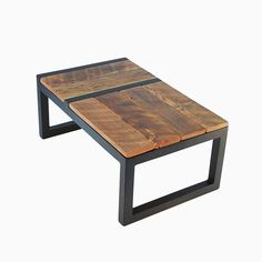 Hand Made Rustic Modern Barnwood Domino Coffee Table by Jonathan January | CustomMade.com