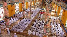 Cao Dai Temple Ceremony, near Ho Chi Min City (Saigon), Vietnam