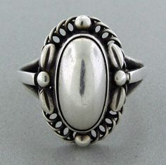 Georg Jensen Moonlight Blossom ring, designed by Harald Nielsen