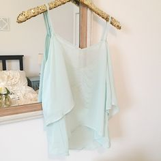 Mint Cut-Out Shoulder Blouse Top ✨ Mint Cut-Out Shoulder Top✨  • Brand new with tags • Size Medium • Cut out shoulders with flowy arms • Material is very sheer • Beautiful detailing in back • Slightly cropped  Closet Policies  ❌ No Trades  ❌ No 🅿️🅿️  ❤️Discounted bundles available! Xo   Please make all offers through the offer button 🌼 Lilly White Tops Blouses