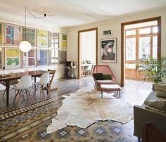 Flat in Barcelona, Bach Arquitectes. Reforma de una vivienda en el Ensanche de Barcelona de Anna & Eugeni Bach, arquitectes