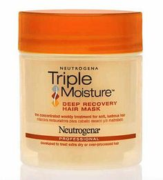 Neutrogena Triple Moisture Deep Recovery Hair Mask - restore damaged hair (heat, summer sun, what have you) to its former crowning glory with this lush drugstore miracle worker. Fried Hair, Hair Rehab, Damaged Hair Repair, Moisturize Hair, Hair Game, Deep Conditioner, Shiny Hair, Neutrogena, Hair Journey