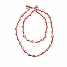 Marimekko Red/White Runo Necklace  - Click to enlarge