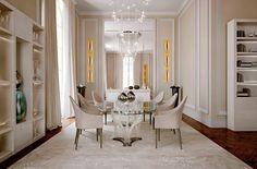 Meubles de luxe Salle à manger luxueuse et contemporaine