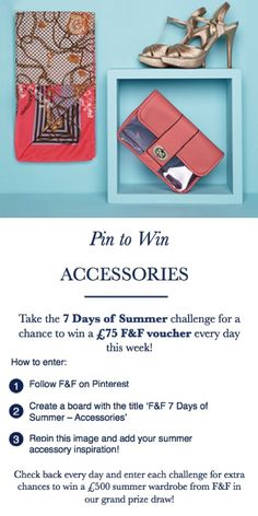 Enter the 7 Days of Summer challenge and #PintoWin every day this week! Terms and conditions apply, click pin for details.