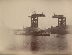 Tower Bridge under construction