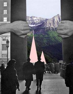 Ashley Joseph Edwards collages city geometry