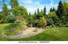 Stock Images similar to ID 381865984 - beautiful spring garden design ...