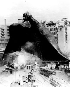 Rodan -- in his early solo destruction phase.