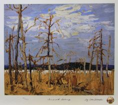 Tamarack Swamp by Tom Thomson Group Of Seven Artists, Group Of Seven Paintings, Canadian Painters, Canadian Artists, Landscape Art, Landscape Paintings, Tree Paintings, Abstract Paintings, Emily Carr Paintings