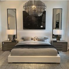 Enchanting the reasons you must know luxury bedroom decor 56 Minimalist Bedroom Bedroom Decor Enchanting luxury reasons Bedroom Sets, Dream Bedroom, Home Decor Bedroom, Bedroom Mirrors, Bedroom Lighting, Indie Bedroom, Bedroom Apartment, Classy Bedroom Decor, Bedroom Furniture