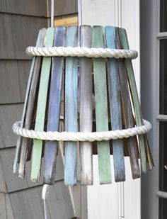 In love with this lampshade and totally have to do something like this for my new beach themed bedroom!!!!!!!
