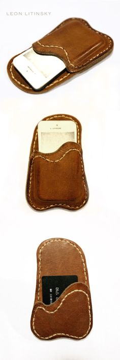 Leather iPhone Case by Leon Litinsky.