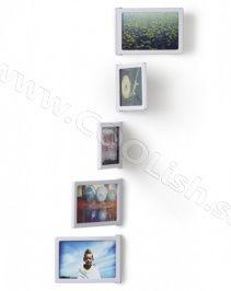 UMBRA design Fotorámeček na stenu FOTOFLIP set/5ks biely  http://www.coolish.sk/sk/foto-darky/fotoramecek-na-stenu-fotoflip-set-5ks-bily/