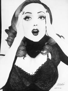 My Gillian Anderson old photoshoot draw.