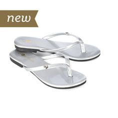 Magnolia and Vine Mini Metallic Silver Flip Flops ~ Magnolia and Vine is partnering with Soles4Souls, a non-profit organization, to help communities in need. For every pair of Magnolia and Vine shows sold, a pair of shoes will be donated to someone in need through Soles4Souls. Let's join forces and help our communities today!! www.SparkleSnaps.com