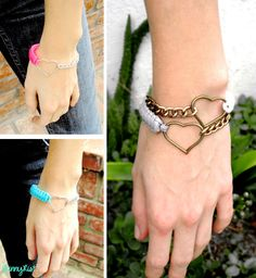 She Blue Me Away Little Love Cobra Bangle. $10.00, via Etsy.