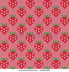 Find Knitted Seamless Pattern Strawberries stock images in HD and millions of other royalty-free stock photos, illustrations and vectors in the Shutterstock collection. Fair Isle Knitting Patterns, Knitting Charts, Loom Knitting, Baby Knitting, Crochet Diagram, Crochet Chart, Knit Crochet, Crochet Patterns, Cross Stitch Fruit