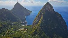 Flying over The Pitons in St. Lucia | 17 Amazing Photos Taken From Planes