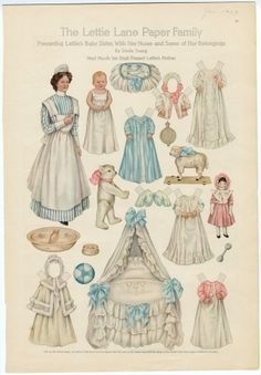 75.2747: The Lettie Lane Paper Family: Presenting Lettie's Baby Sister with her Nurse | paper doll | Paper Dolls | Dolls | Online Collections | The Strong