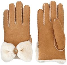 Pin for Later: You'll Feel Cozy Just Looking at These Shearling Finds Ugg Australia Classic Bow Shearling Gloves Ugg Australia Classic Bow Shearling Gloves (£125)