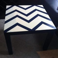 IKEA hack - paint your existing table with Annie Sloan Old Ochre in a chevron pattern to add a little zest to your kids room :)  ~The Decor Vault~ www.facebook.com/thedecorvault