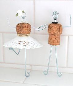 Corcho Champagne caprichosa torta de bodas con el por Beflourish