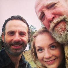 A selfie; Andrew, Emily,  Scott