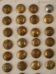 Antique British Military Buttons