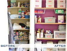 Organizing Your Home What I like here other than the tidied up space is the use of wall color.
