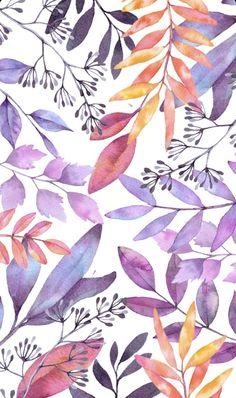 Watercolor Wallpaper, Floral Watercolor, Plant Illustration, Watercolor Illustration, Background Patterns, Theme Background, Iphone Background Wallpaper, Art Design, Pattern Wallpaper