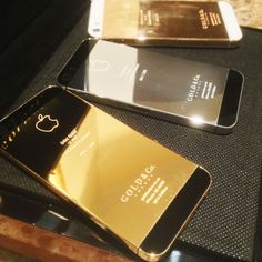 World's First Gold, Rose Gold & Platinum iPhone Iphone 5s, Iphone Cases, I Love Gold, Gold C, Rose Gold, Techno Gadgets, Luxe Life, Gold Platinum, Luxury Shop