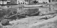 Eliseo Meifrén Roig. Platja gran, Cadaqués, Girona. Óleo sobre lienzo. Firmado. Pel i ploma, abril de 1902.
