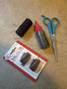 Here are the supplies you are going to need to make your clip in extensions