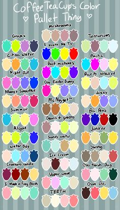 Requests are up for ❇️Furries❇️! First, pick a pallete and then find and send me the spec. Colour Pallete, Colour Schemes, Color Combos, Color Palettes, Color Mixing Chart, Color Palette Challenge, Palette Art, Color Swatches, Color Theory