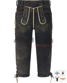 Salzburg Trachten Kniebundhose Grau Art. #MnS-60-0092928 Length: Knee bound (Kniebund) Material: Deer skin Buttons: Deer horn DESCRIPTION Salzburg Trachten Kniebundhose for men by Moon Sports in Old Gray. The high-quality lederhose are characterized by the creamy surface and traditional details. Embossed embroidery in green and light brown harmonize perfectly with the contrasting parts. A buttoned bib and drawstrings on the back and leg endings offer high wearing comfort. Three....(cont'd) Salzburg, Deer Skin, Sport, Gradient Color, Contrast, Lederhosen, Legs, How To Wear, Pants