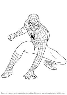 How to Draw Spiderman step by step, learn drawing by this tutorial for kids and adults. to drawing spiderman Spiderman Sketches, Spiderman Kunst, Spiderman Face, Spiderman Drawing, Spiderman Pictures, Marvel Drawings, Cartoon Drawings, Easy Drawings, How To Draw Spiderman