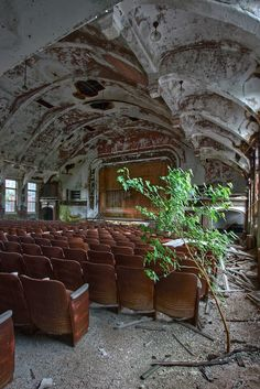 Abandoned auditorium, pined from Jessie Kaplan